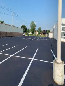 White striping parking lot project